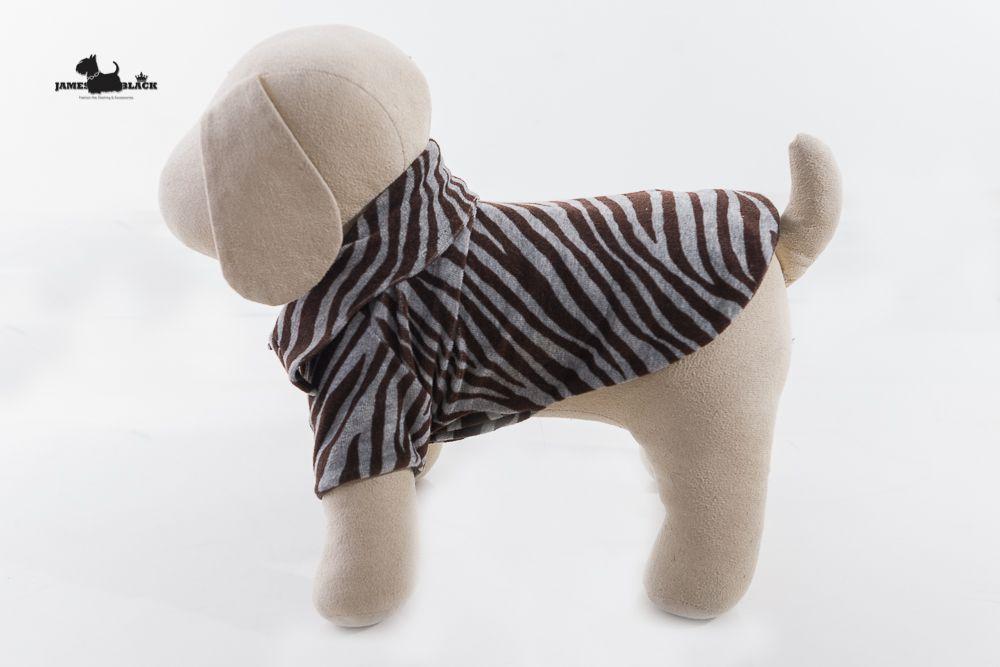Camisa Polo Pet Plush Zebra Cinza e Marrom Forrada em Matelasse dupla face