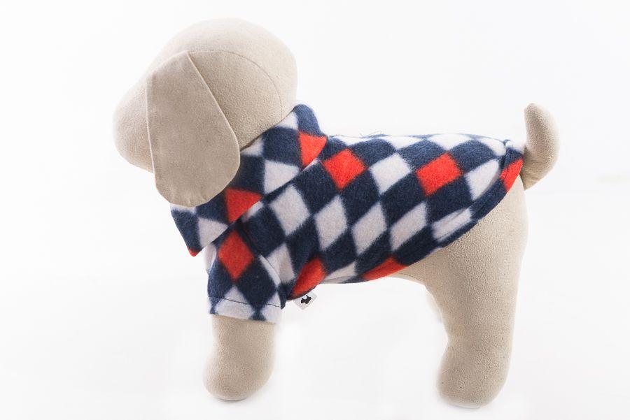 Camisa Polo Soft Pet Azul Marinho com Losangos
