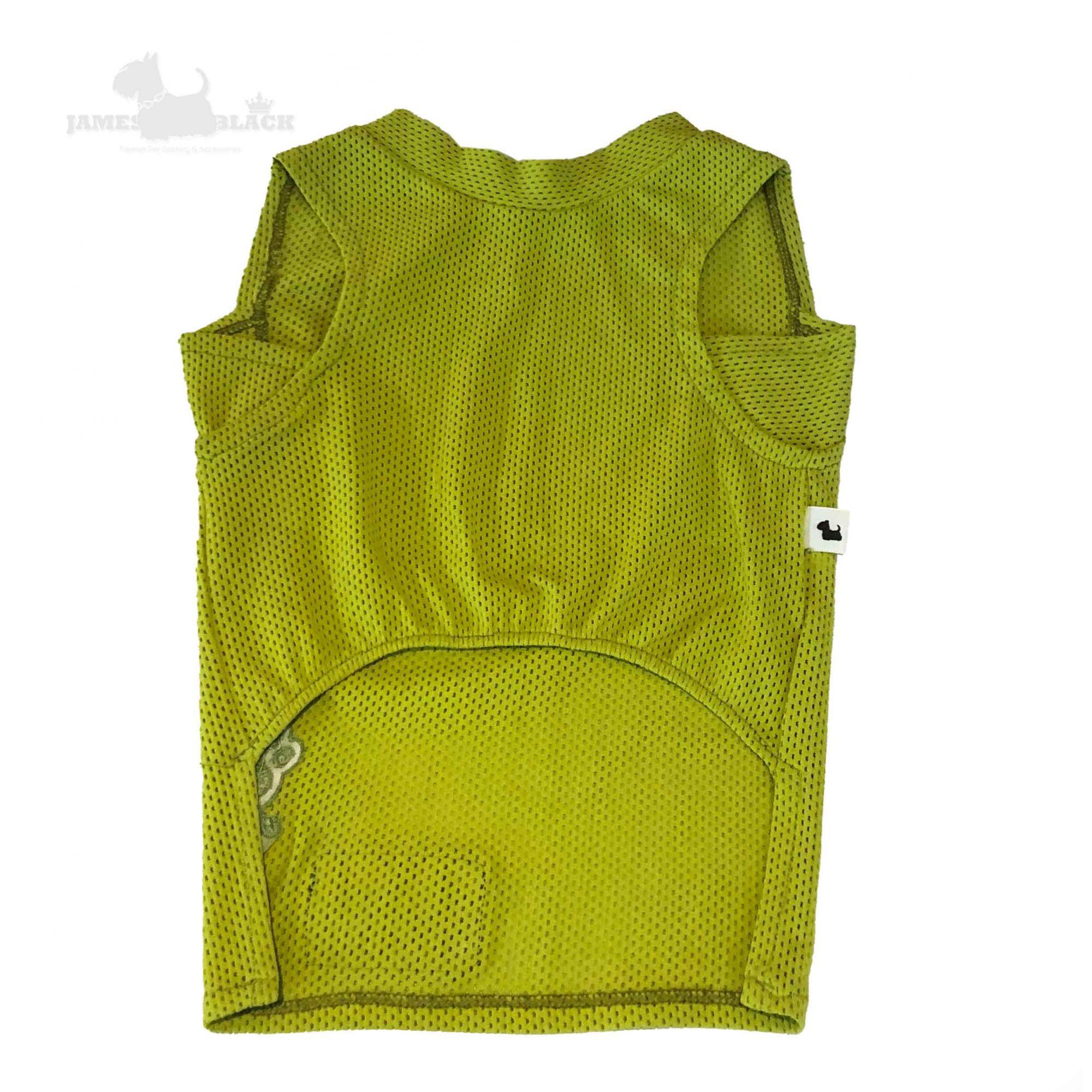 Camiseta Dryfit Mostarda Furos Medios e Patch