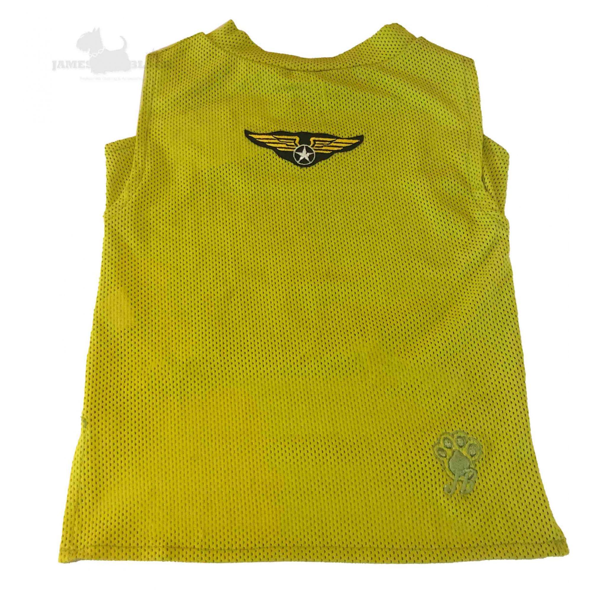 Camiseta Dryfit Mostarda Furos Medios e Patch Militar