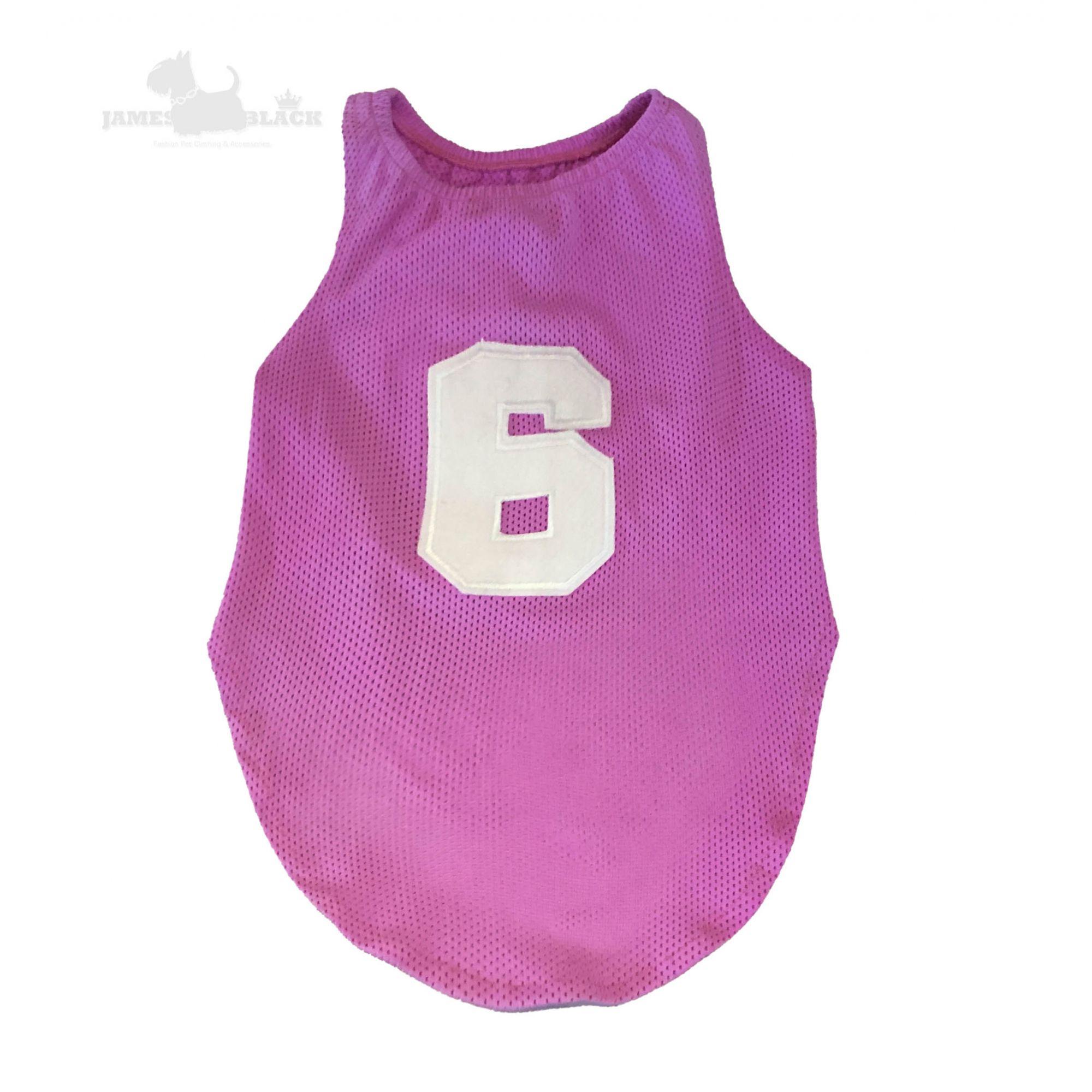 Camiseta Dryfit Rosa Furos Medios Seis