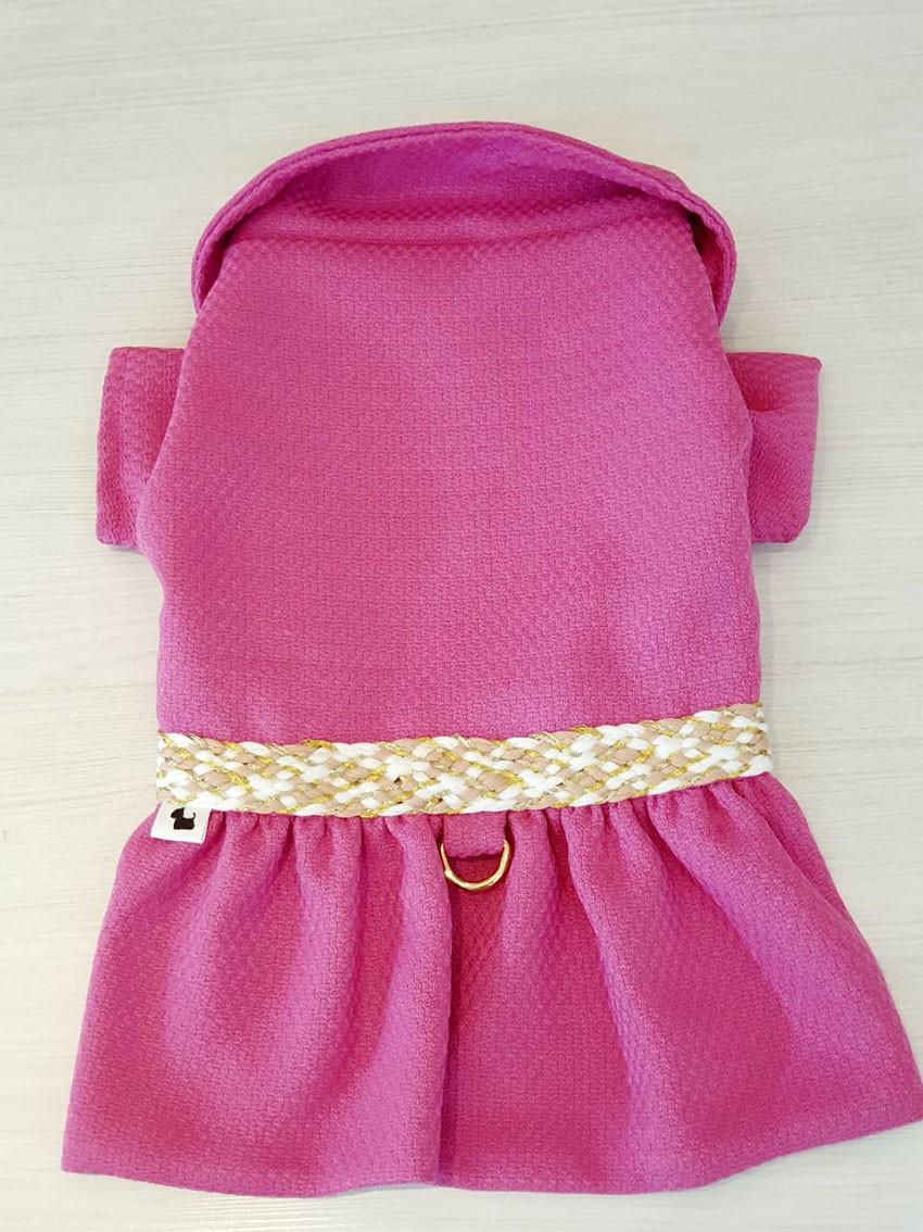 Casaco de Jacquard Pink com Detalhes Exclusivos