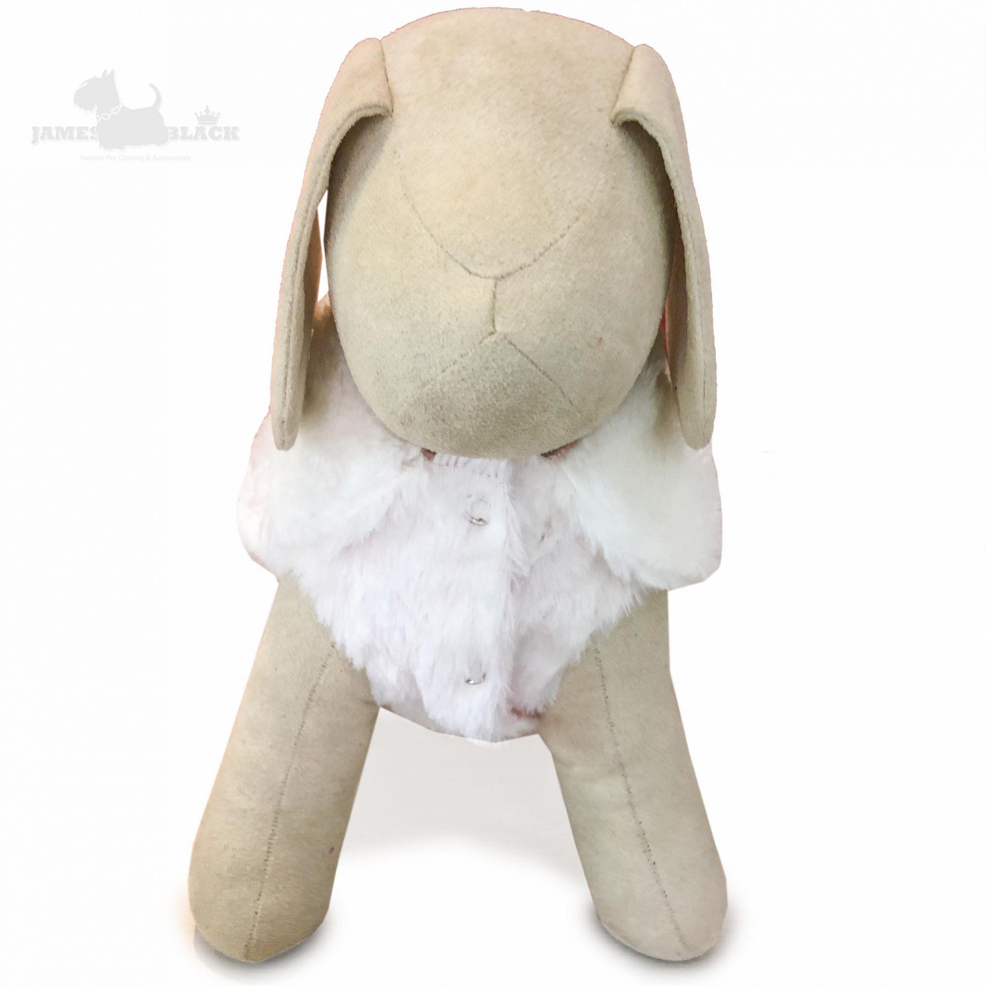 Colete Pet Duplaface em Pele Branco