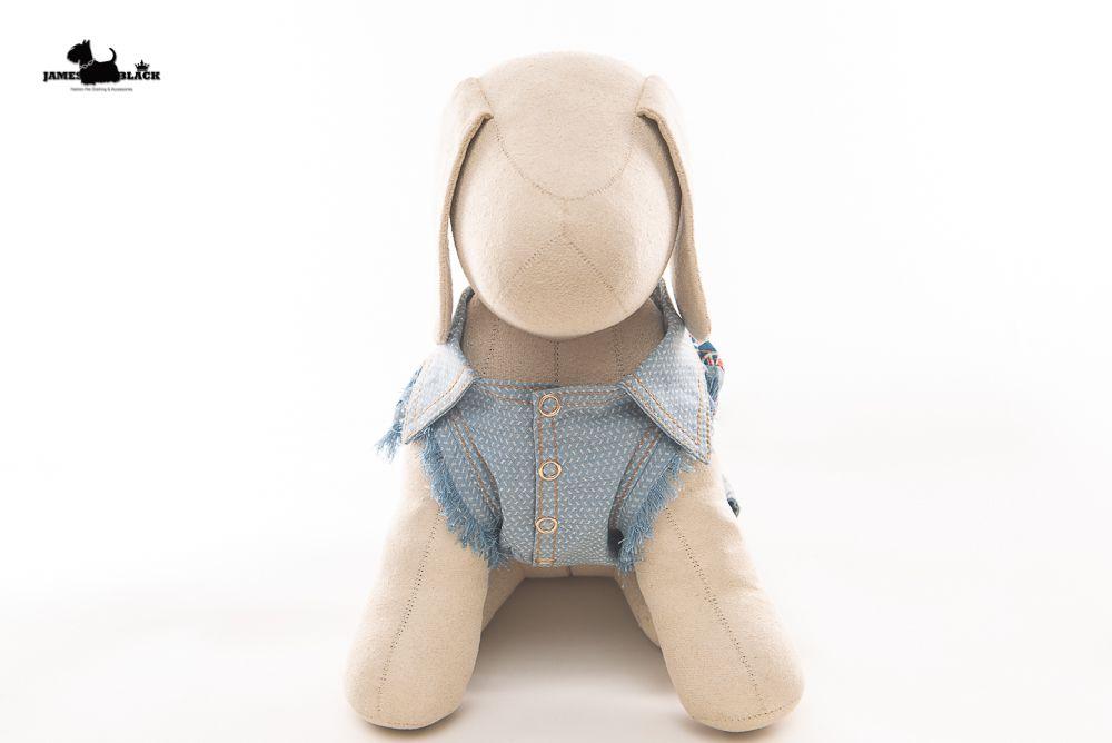 Jaqueta Jeans Pet com detalhes estampados de coração London