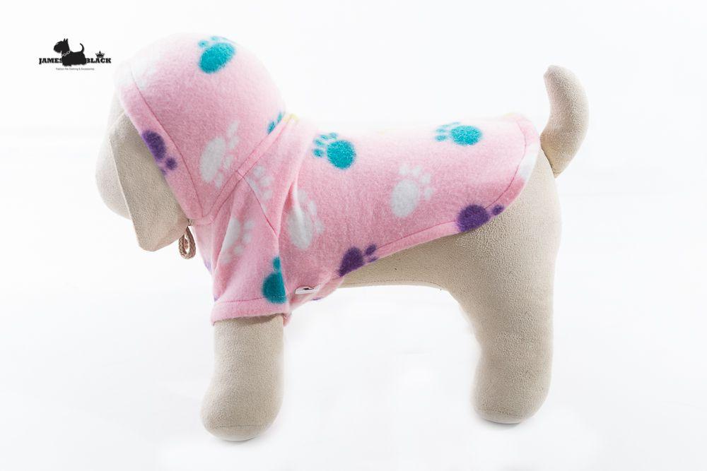 Moletom Pet Rosa com Patas Coloridas
