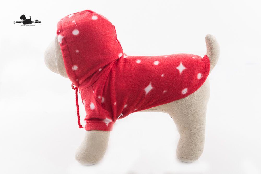 Moletom Pet Soft Vermelho com Estrelas