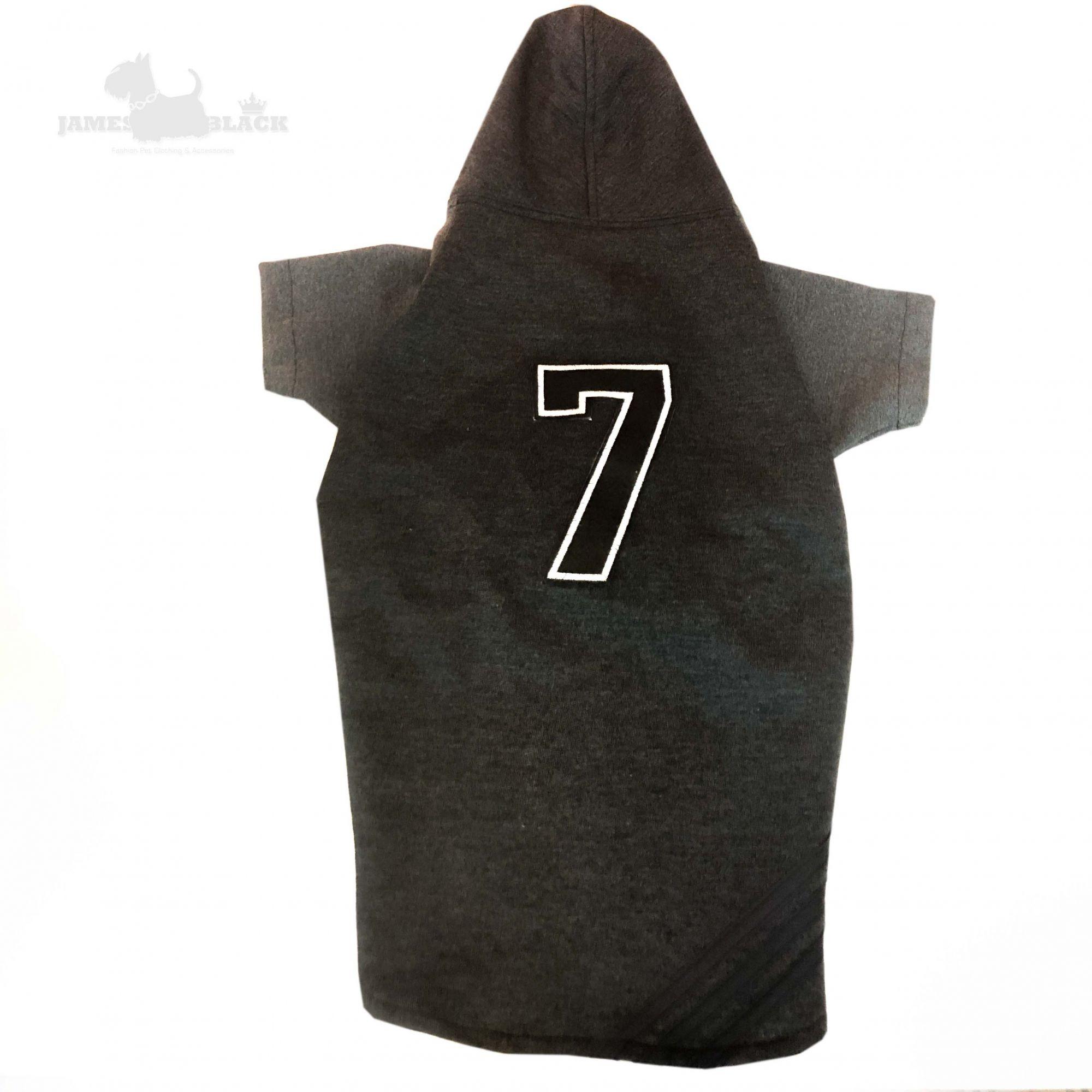 Moletom Preto com Listras Número 7