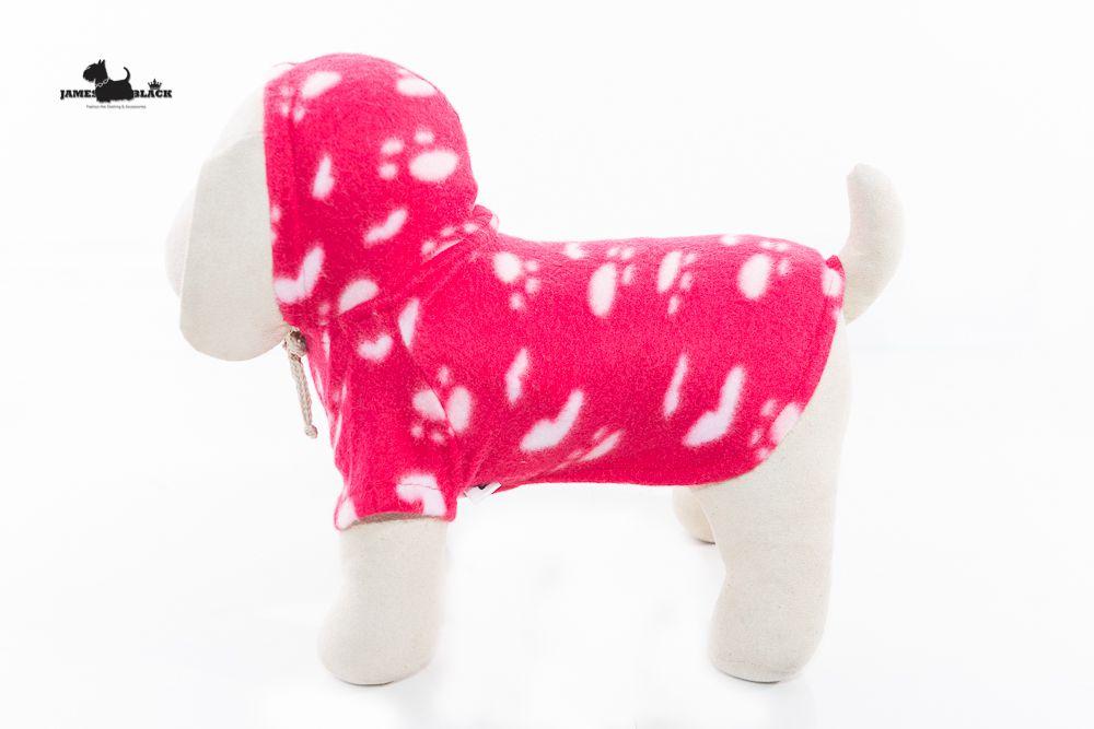 Moletom Soft Pink Sem Mangas com Estampa de Patinhas e Corações com Capuz