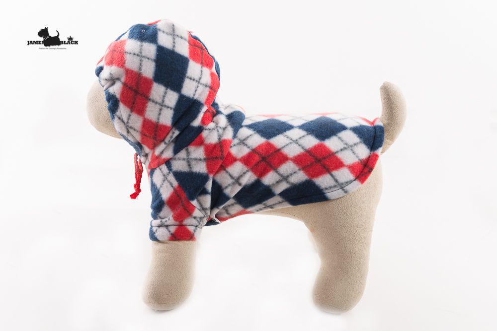 Moletom Xadrez Escocês Azul ,Vermelho e Branco com Capuz