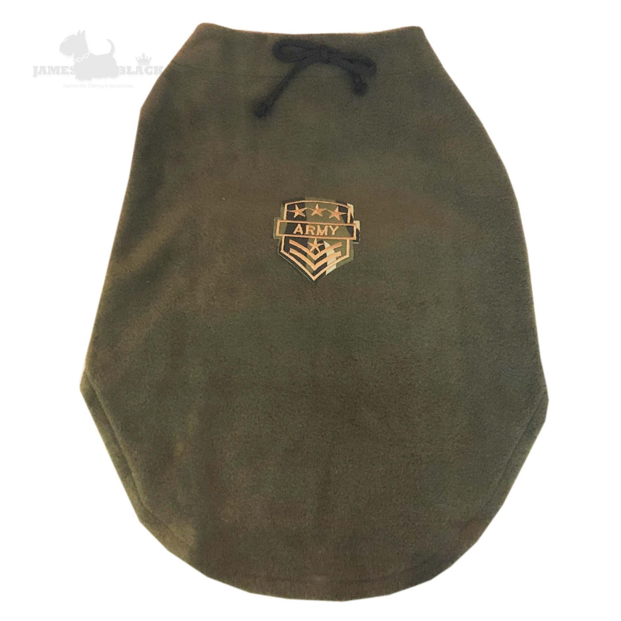Roupa Harry Verde Militar com velcro e patch Army