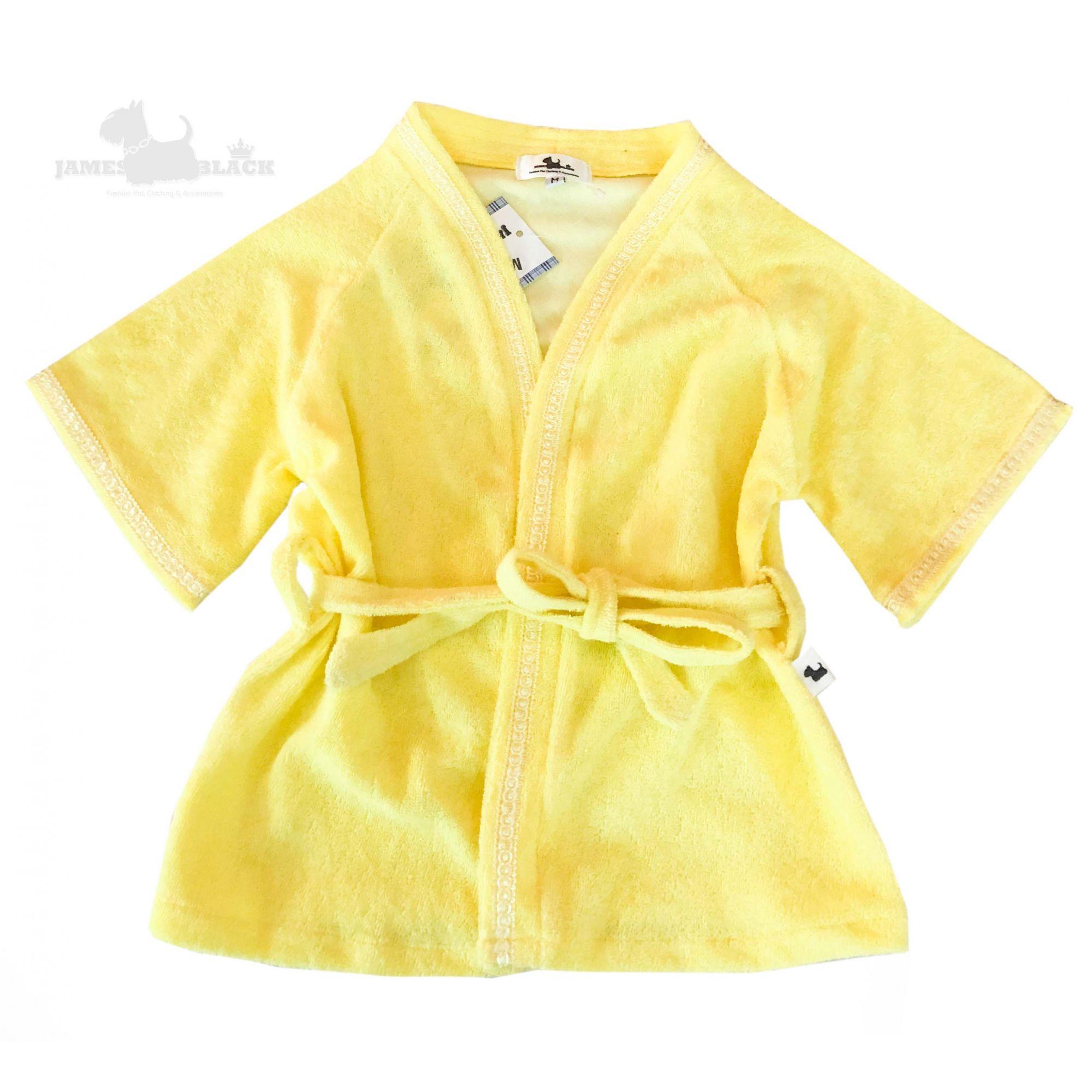 Roupão Atoalhado Amarelo bebê