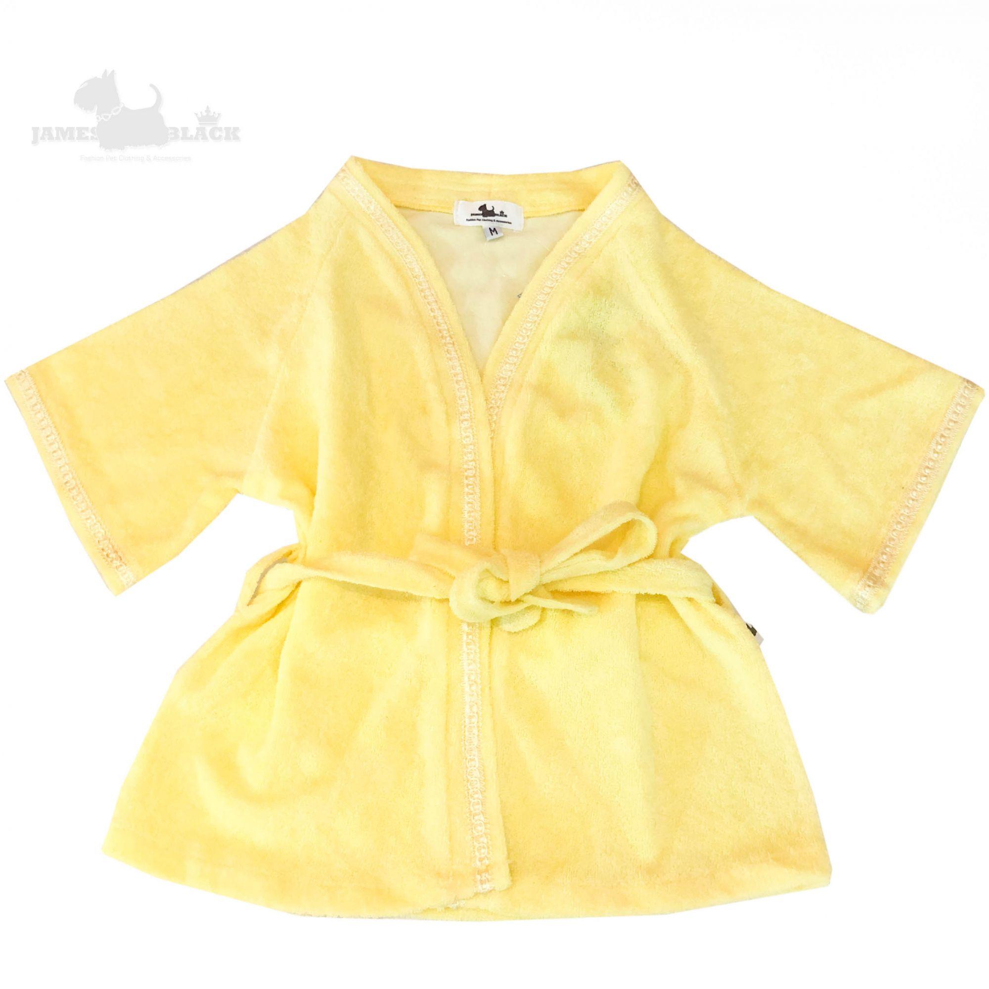 Roupão Atoalhado Plush Amarelo