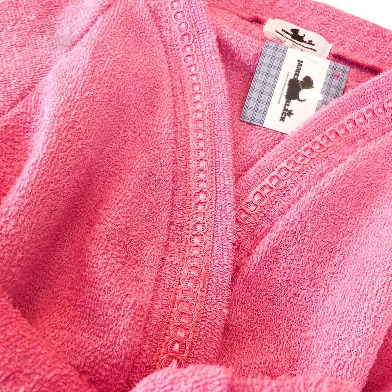 Roupão transpassado Rosa Chiclete com vies pink