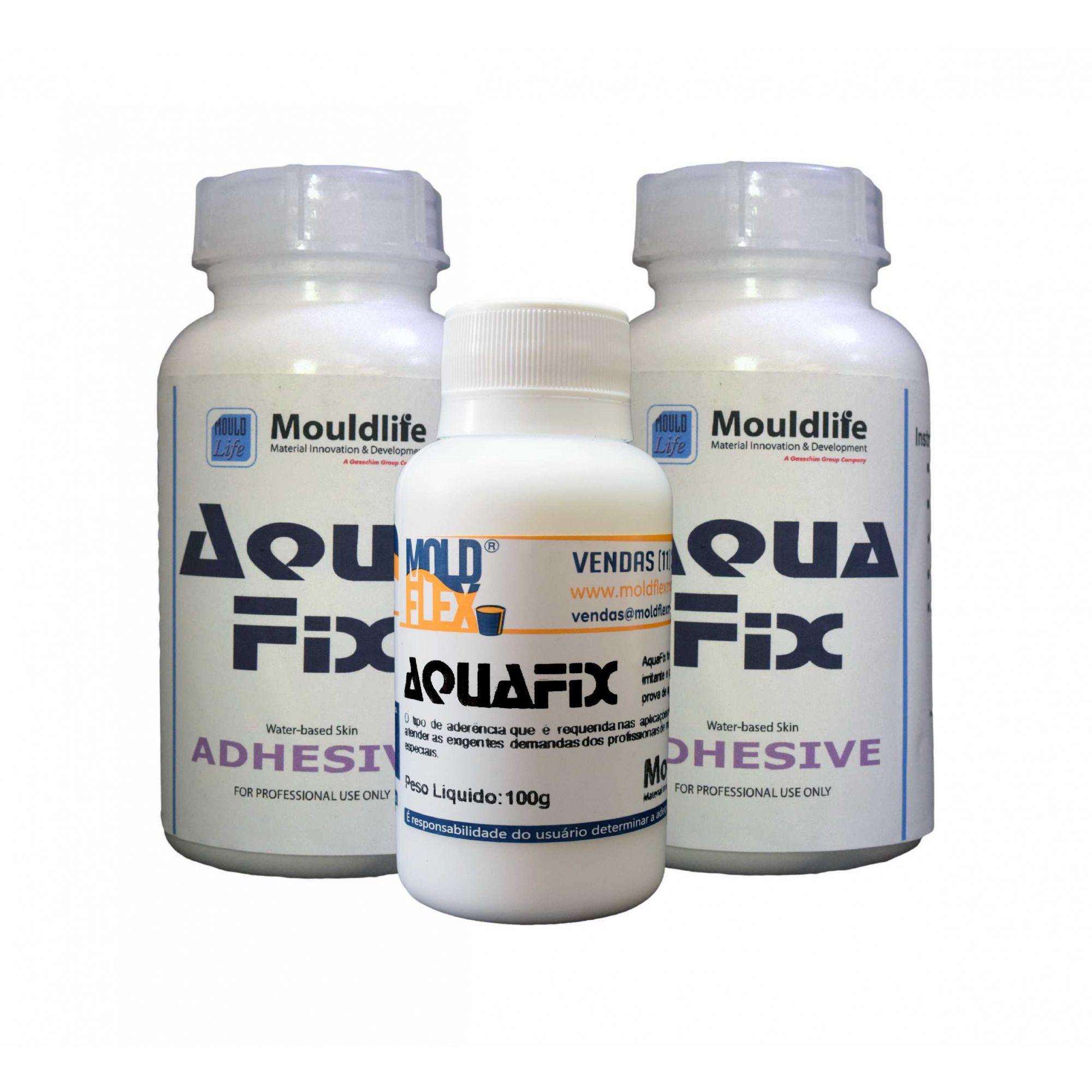 Aqua Fix - Adesivo a base d'água para próteses de silicone.
