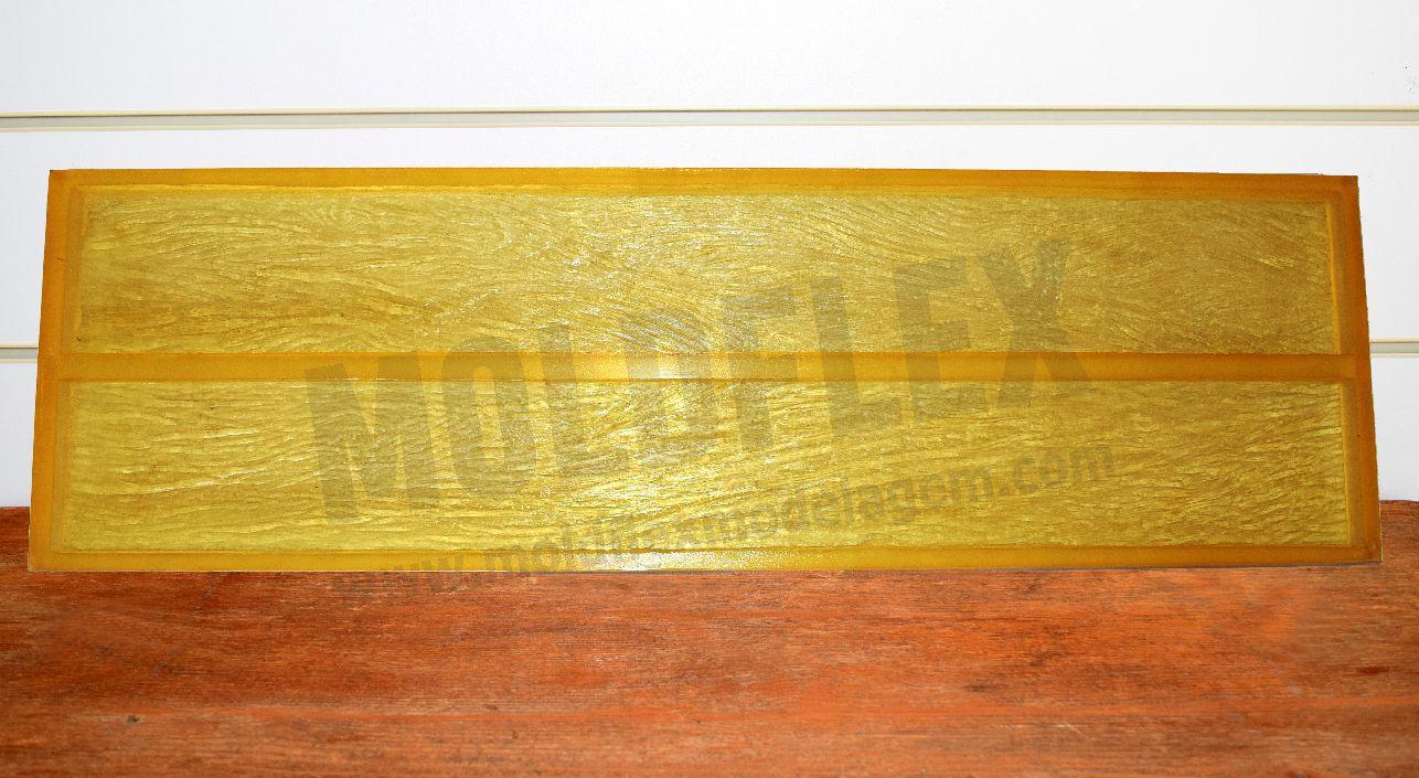 Molde de madeira demolição com duas cavidades 99,5 cm  x 12,5 cm