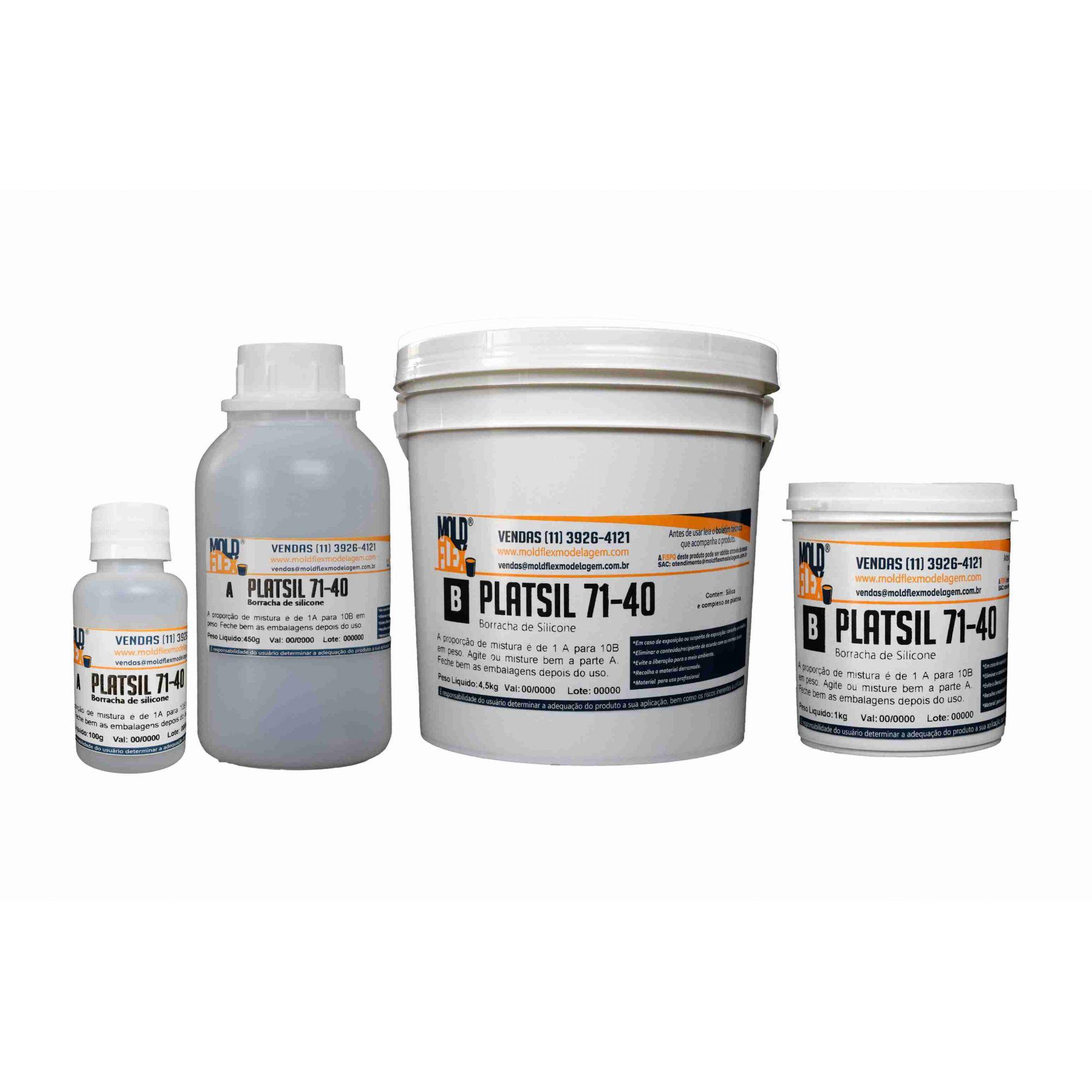 PlatSil 71-40 - Borracha de Silicone Cristal