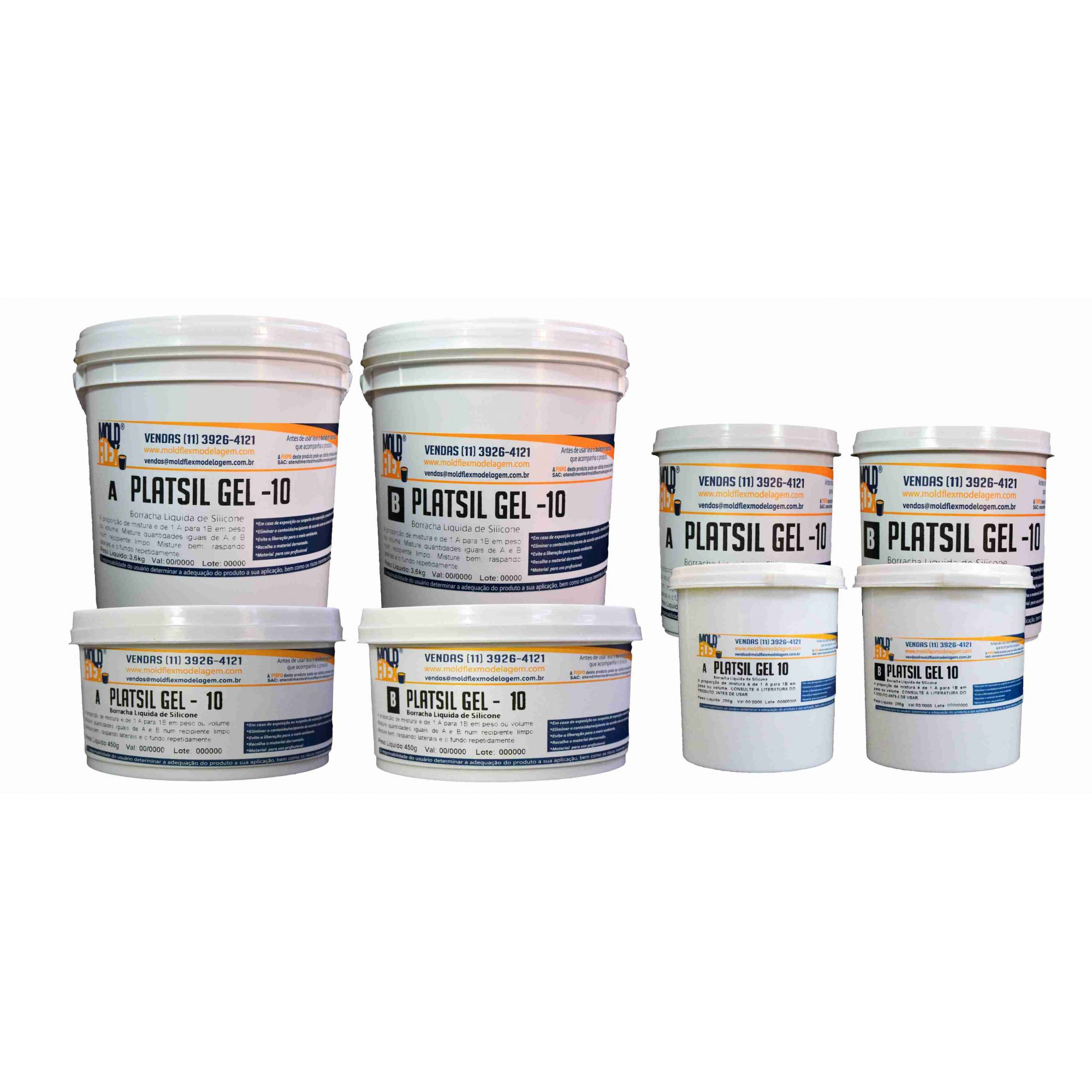 PlatSil Gel 10 - Silicone Platina