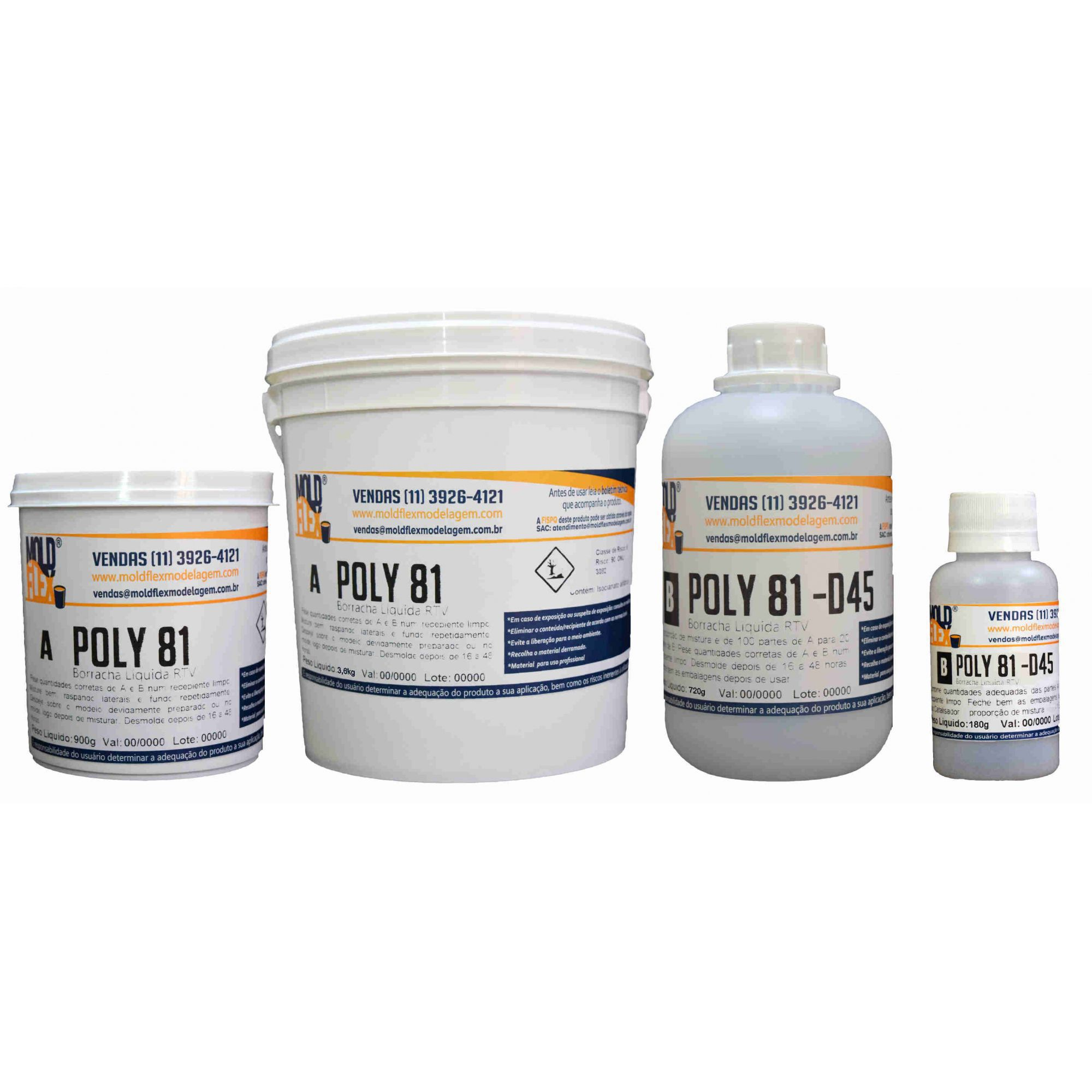 Poly 81 D45 - Borracha de Poliuretano