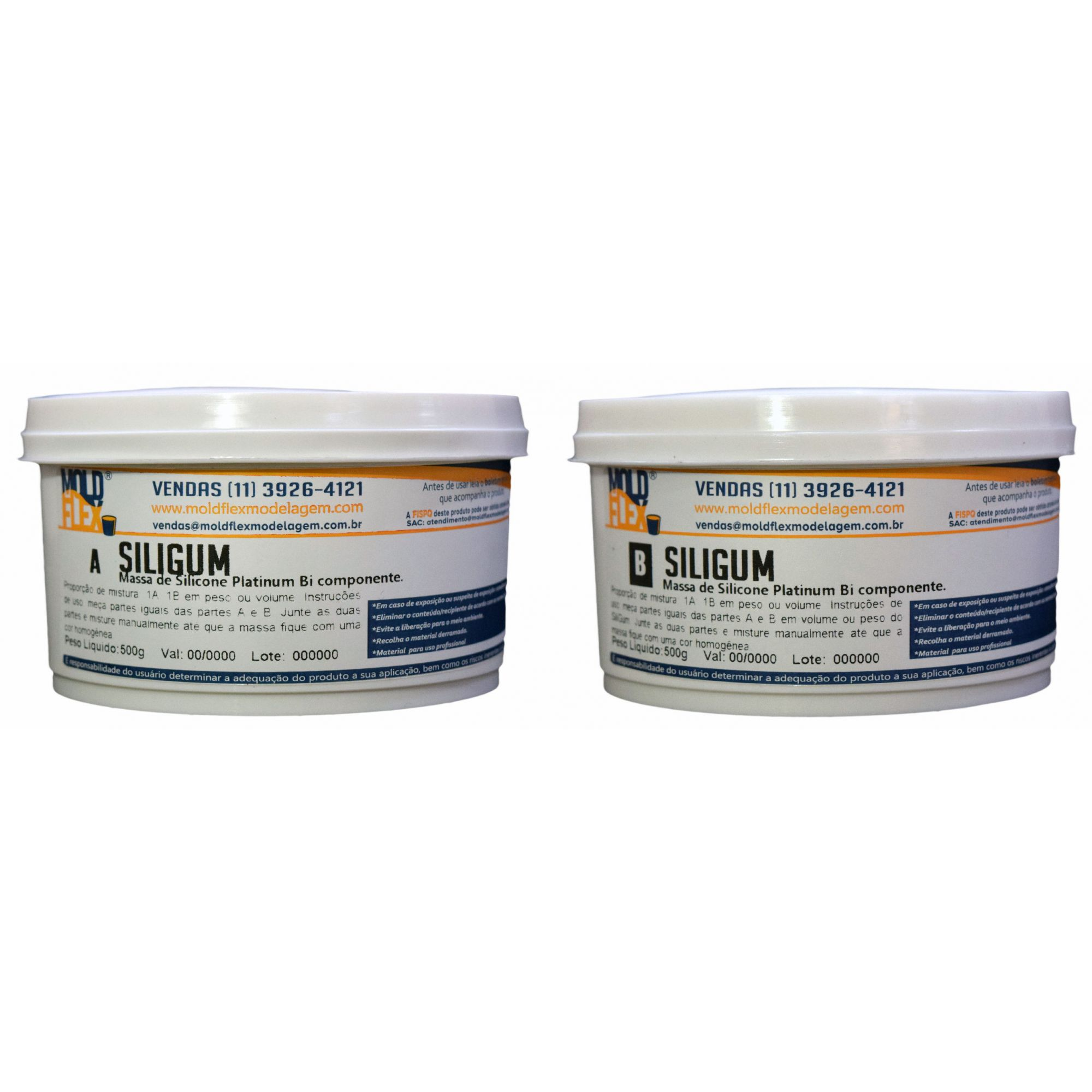 SiliGum - Silicone Mágico - Massa de Silicone de Alta Resistência -1kg