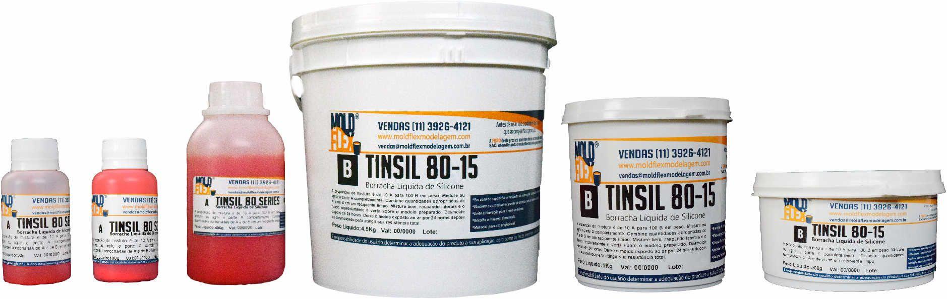 TinSil 80-15 -  Silicone Líquido