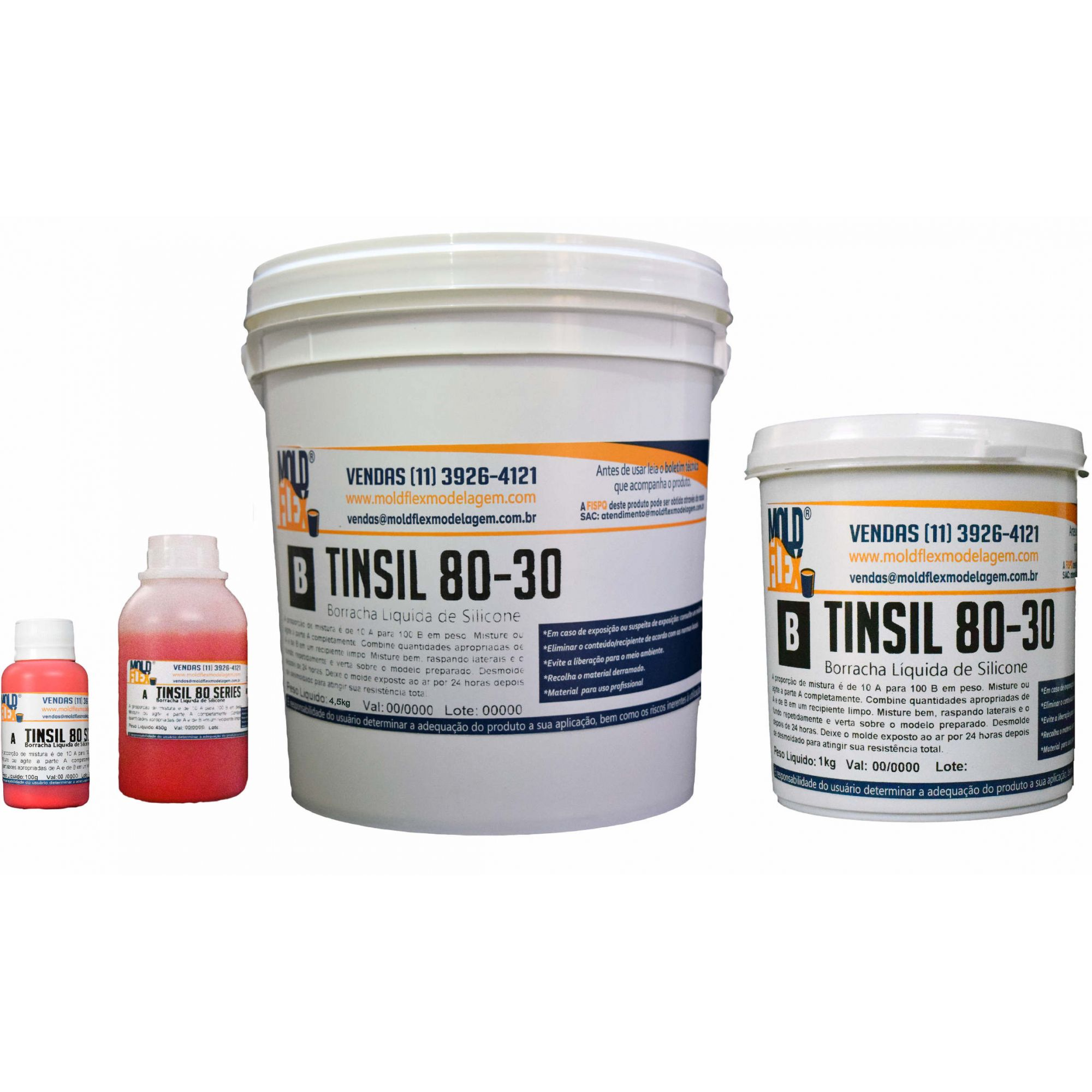 TinSil 80-30 - Borracha de Silicone Ultra-resistente