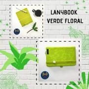 Caderneta Lanybook Verde Floral