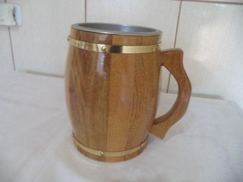 Caneca Para Chopp Em Madeira 2 Litros  - controlpot Maquinas e Batedores Milk Shake