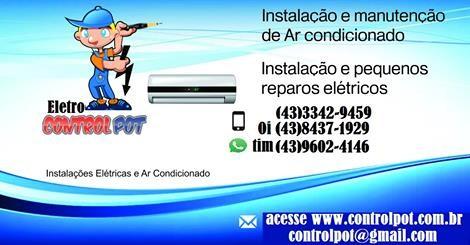 Instalação e manutenção de Ar condicionado Londrina  - controlpot Maquinas e Batedores Milk Shake