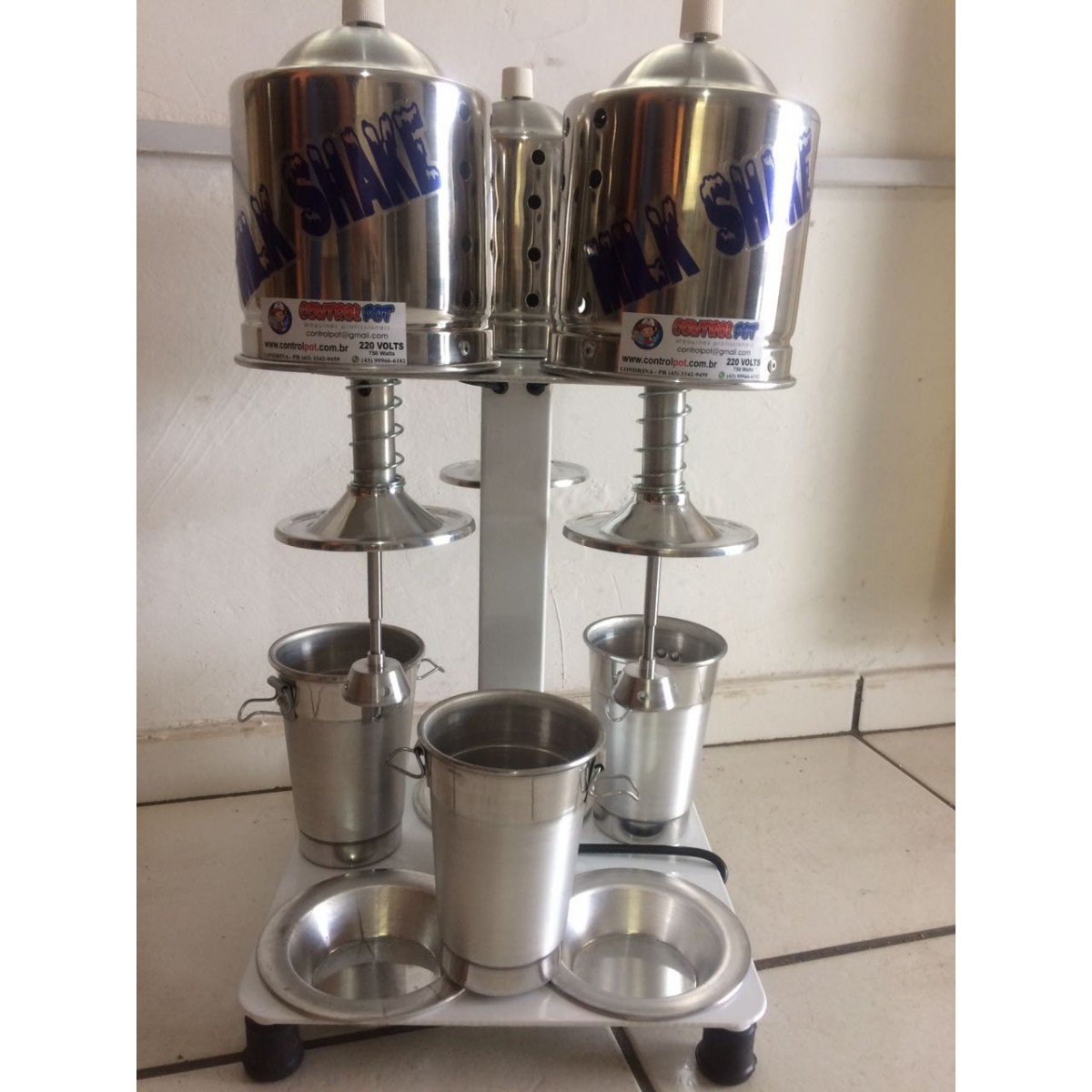 Maquina Milk Shake Profissional Sd 2014 Triplo Balcão 900w  - Controlpot Maquinas e Batedores Milk Shake e Furador de Côco