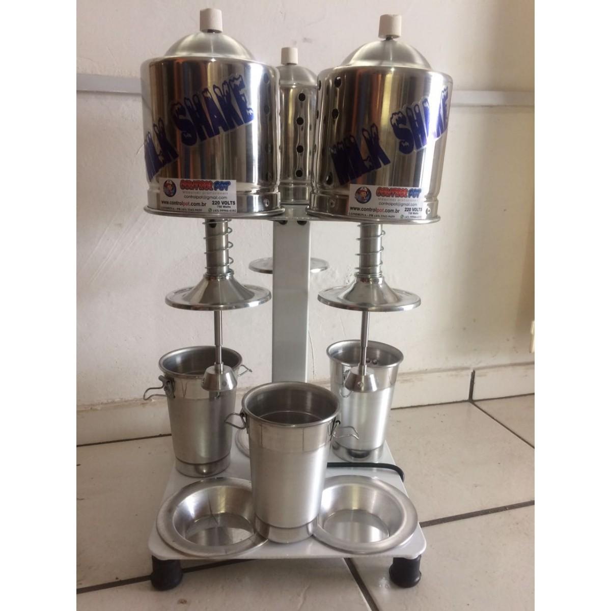 Maquina Milk Shake Prof Sd 2014 Triplo De Balcão 750w  - controlpot Maquinas e Batedores Milk Shake