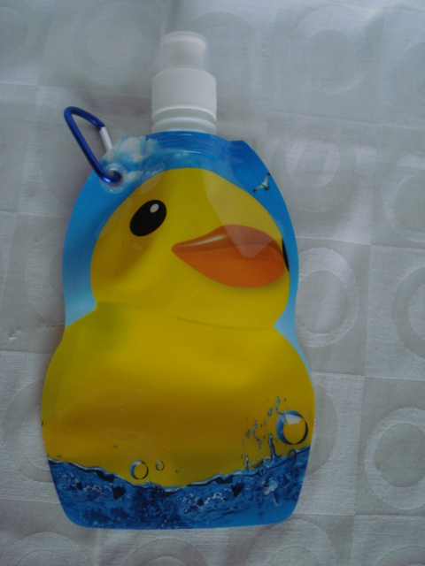 Garrafa De Água Dobrável Patinho Pato Flexível Reutilizável  - Presente Presente