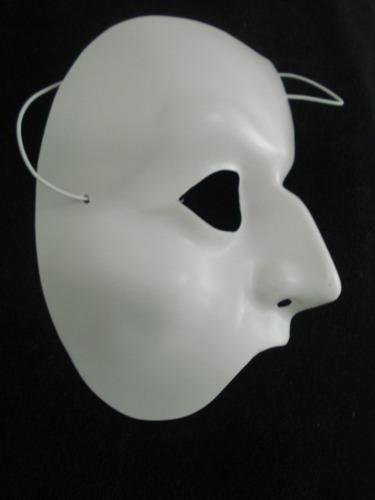 Mascara Meia Face Branca Carnaval Haloween Festas Disfarce  - PRESENTEPRESENTE