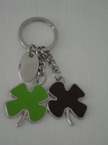 Chaveiro Trevo De 4 Folhas Metal Verde Da Sorte  - Presente Presente