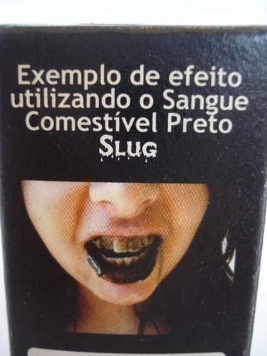 Sangue Preto Teatral Comestível Zumbi Feridas Haloween 15ml  - Presente Presente