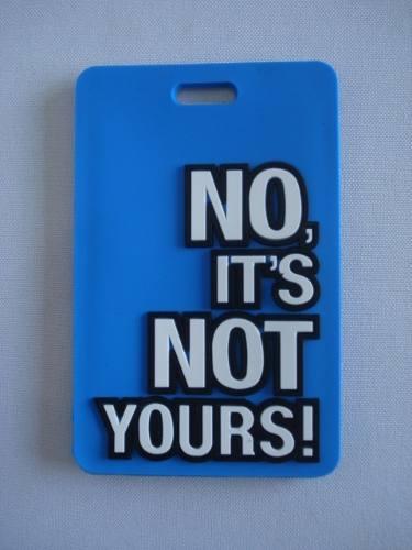 Chaveiro Identificação De Malas No Its Not Yours Azul  - Presente Presente