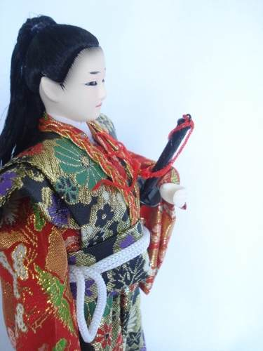 Miniatura Samurai Guerreiro Japones Oriental Kimono  - Presente Presente