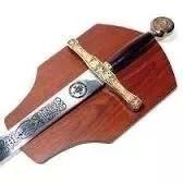 Espada Medieval The King And His Son Com Suporte Parede  - Presente Presente