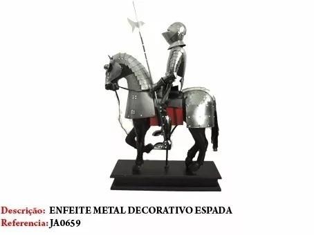 Guerreiro Templario Metal Cavaleiro Medieval Novo  - Presente Presente