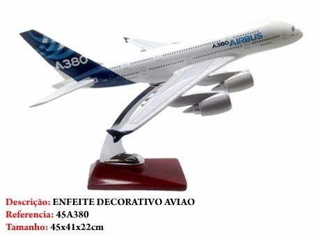 Avião Airbus A380 45x41cm Grande Metal Coleção  - Presente Presente