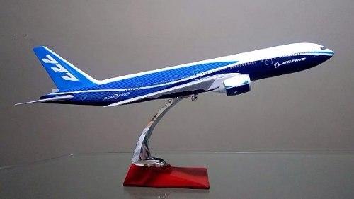 Avião 777 45x41cm Grande Metal Coleção  - Presente Presente