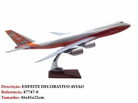 Airbus 747-8 45x41cm Avião Grande  - Presente Presente