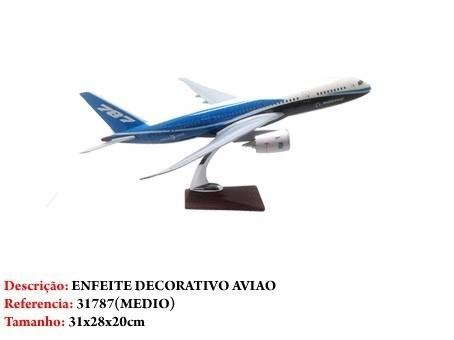 Avião 787 Metal 31x28cm Miniatura Coleção  - Presente Presente