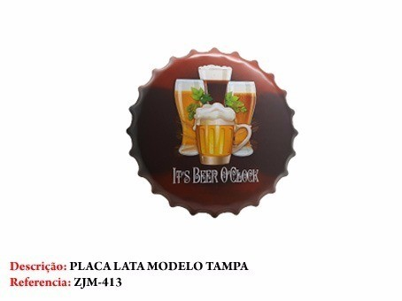 Placa Metal Cerveja Copo De Chop Decoração Coleção  - Presente Presente