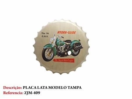Placa Metal Moto Vintage Motor Motocicleta Decoração Coleção  - Presente Presente