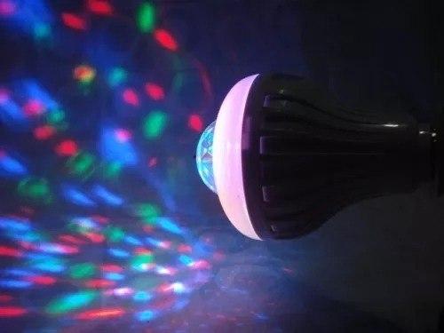 Lâmpada Led Colorida Rotativa Giratória C/ Controle Bola  - Presente Presente