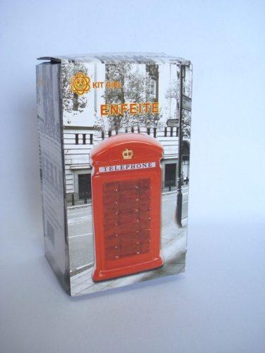 Cofre Resina Cabine Telefone Londrino Cofrinho Londres Mod 3  - Presente Presente