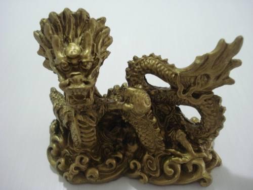 Par Dragão Chinês Mandarim Em Resina  - PRESENTEPRESENTE