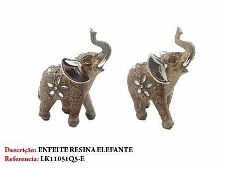 Enfeite Resina Elefante 15cm Decoração 51q5-e  - Presente Presente