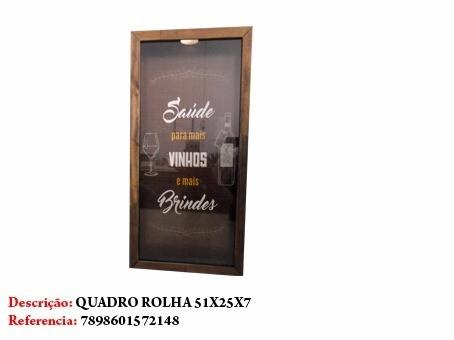 Quadro Porta Rolha Vinhos Saude Placa 51x25cm Ref 2148  - Presente Presente