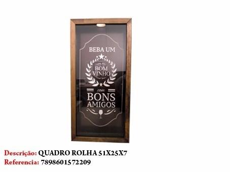 Quadro Porta Rolha Vinhos Placa 51x25cm Bons Amigos  - Presente Presente